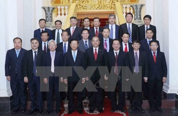 越共中央宣教部部长武文赏会见老挝人民革命党代表团 hinh anh 1