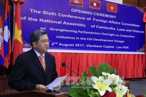 柬老越三国国会对外委员会致力加强合作 hinh anh 1