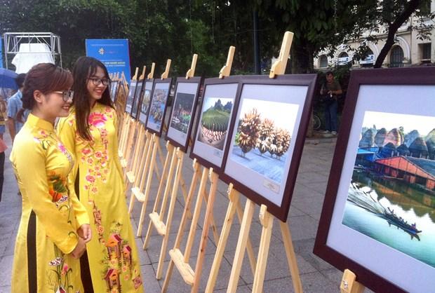 东盟成立50周年:东盟国家风土人情图片展在河内举行 hinh anh 1
