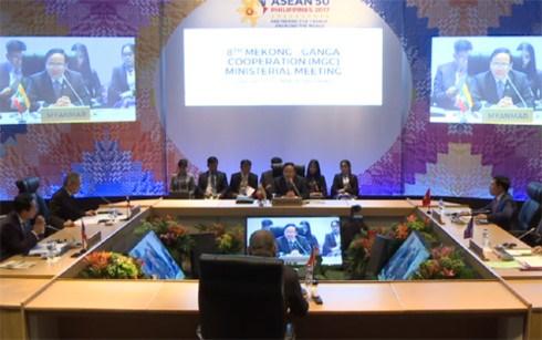 第50届东盟外长会:加强大湄公河次区域5国与印度之间的交通对接 hinh anh 1