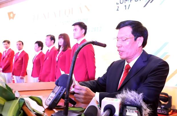第29届东南亚运动会越南体育代表团出征仪式在河内隆重举行 hinh anh 2