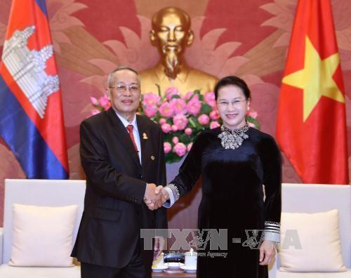 越南领导人会见柬埔寨参议院第一副主席奈北纳 hinh anh 2