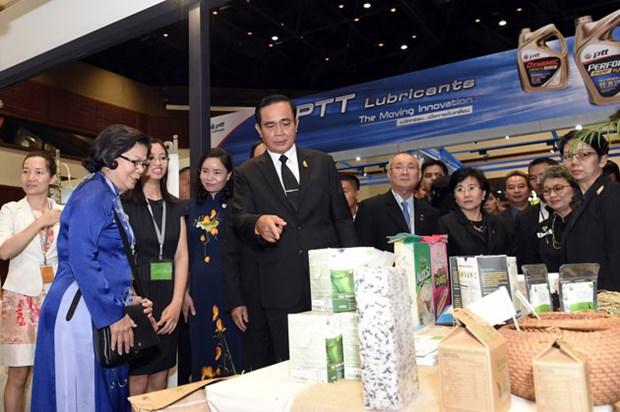 越南企业在2017年东盟-印度商贸展销会上推广越南商品 hinh anh 1