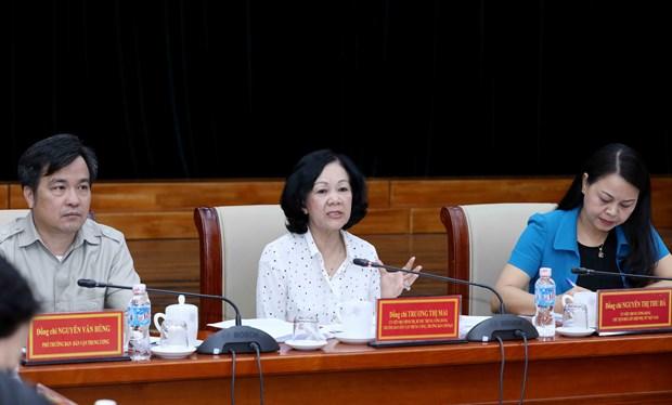 越共中央民运部部长:青年妇女应获得更多发展机会 hinh anh 2