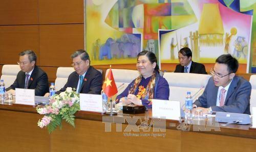 越南国会副主席丛氏放同柬埔寨参议院第一副主席奈北纳举行会谈 hinh anh 2
