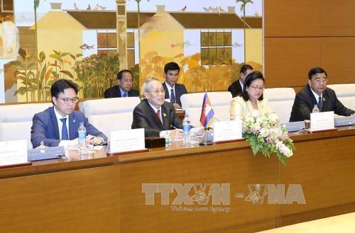 越南国会副主席丛氏放同柬埔寨参议院第一副主席奈北纳举行会谈 hinh anh 3
