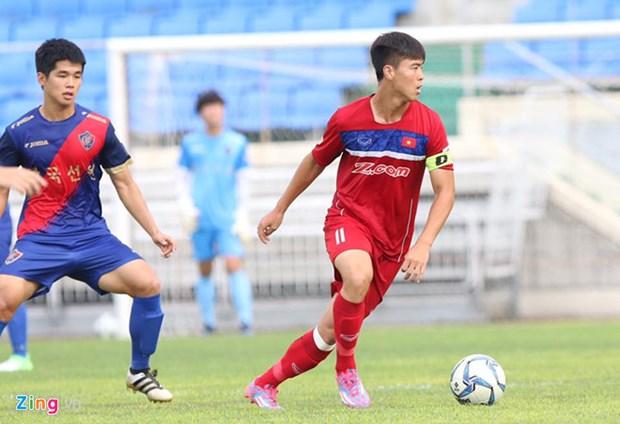 热身赛:越南U22队击败韩国釜山队 hinh anh 1