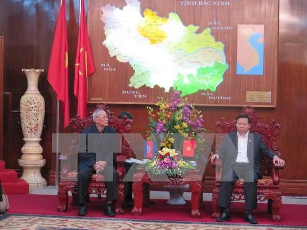 柬埔寨人民党高级代表团对越南北宁省进行工作访问 hinh anh 1