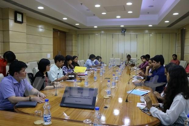 胡志明市国家政治学院代表团对印度进行工作访问 hinh anh 1