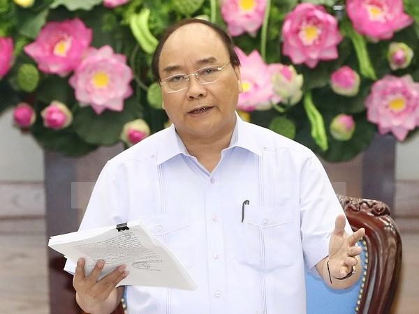 阮春福总理:切实增强责任意识 努力完成增长目标 hinh anh 1