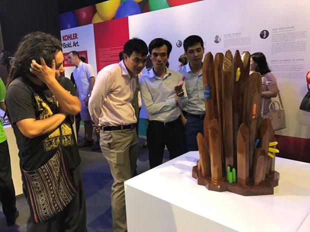 大胆艺术展展出各国文化的多样性 hinh anh 3