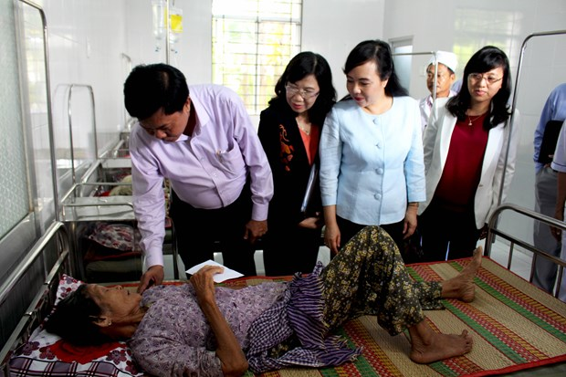 越南卫生部部长与隆安省领导举行工作会谈 hinh anh 2