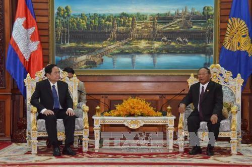 柬埔寨领导人会见越南祖国阵线中央委员会代表团 hinh anh 3