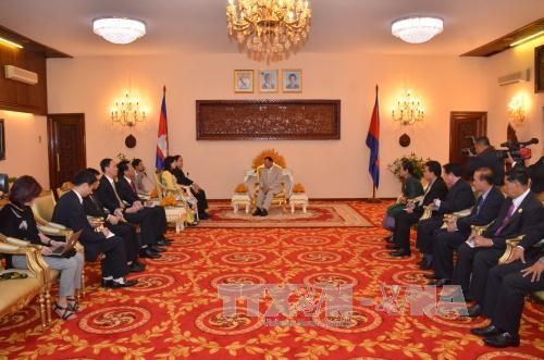 柬埔寨领导人会见越南祖国阵线中央委员会代表团 hinh anh 2