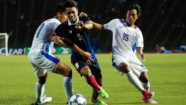 第29届东南亚运动会男足比赛:菲律宾队以2比0击败柬埔寨队 hinh anh 1