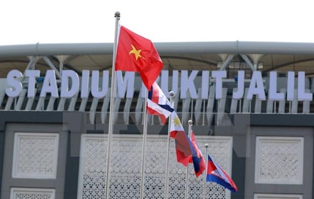 第29届东南亚运动会:11个国家体育代表队举行升旗仪式 hinh anh 1