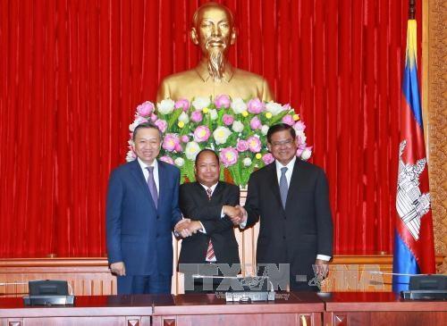 越老柬三国公安力量加强合作 hinh anh 1
