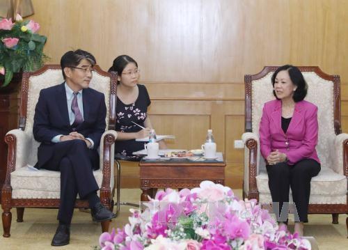 越共中央民运部部长会见国际劳工组织驻越南首席代表 hinh anh 1