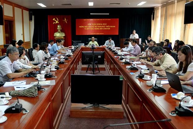 努力寻找措施推动越南快速可持续发展 hinh anh 1