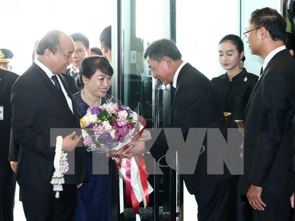 越南政府总理阮春福抵达曼谷 开始对泰国进行正式访问 hinh anh 1