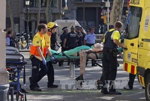 越南领导人就西班牙巴塞罗那恐怖袭击事件向西班牙领导人致慰问电 hinh anh 1