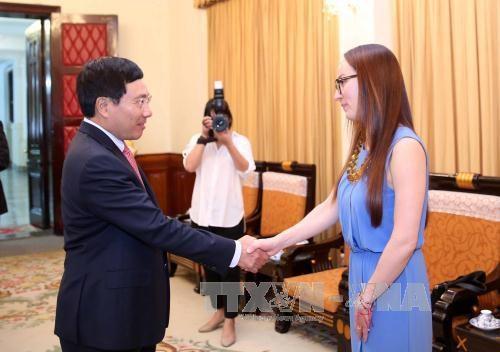 越南外长范平明会见墨西哥参议院外交委员会主席 hinh anh 1