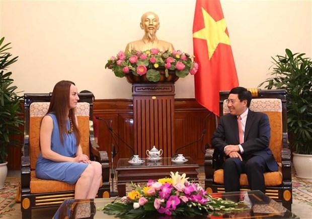 越南外长范平明会见墨西哥参议院外交委员会主席 hinh anh 2