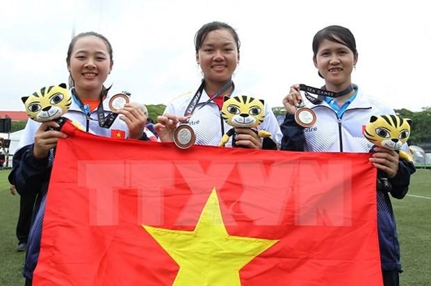 第29届东南亚运动会:马来西亚体育代表队在奖牌榜上居榜首 hinh anh 1