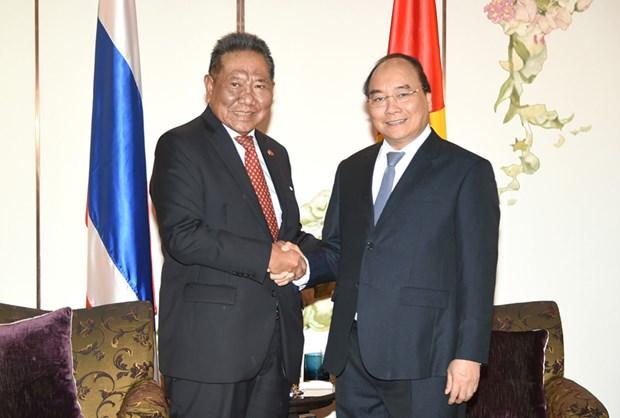 越南政府总理阮春福会见泰越友好协会主席 hinh anh 1