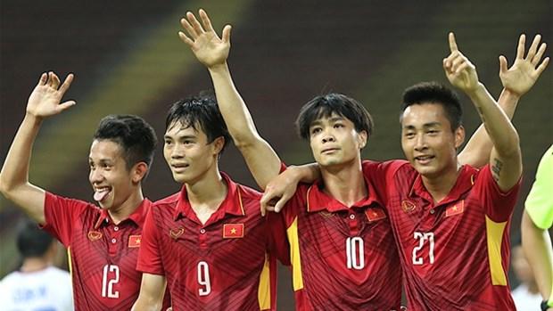 第29届东运会男足比赛: 越南U22男足队4-0 战胜菲律宾U22男足队 hinh anh 1