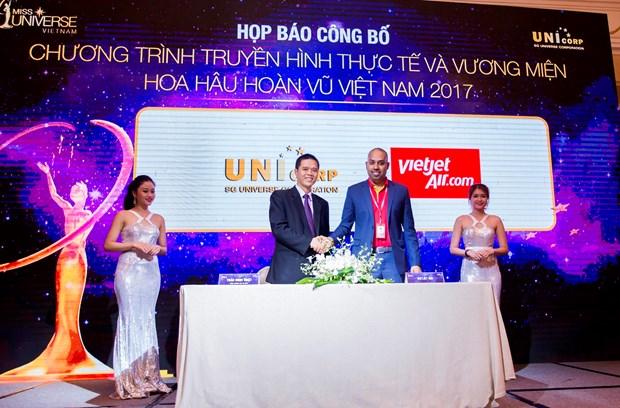 越捷航空成为2017年越南环球小姐大赛的正式航空承运商 hinh anh 1
