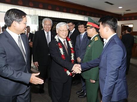 越共中央总书记阮富仲访问印尼和缅甸为双边关系吹来一阵新风 hinh anh 1