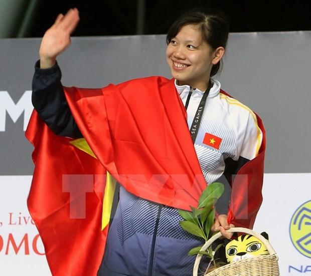 第29届东南亚运动会: 22日越南以15金10银18铜位居第三 hinh anh 1