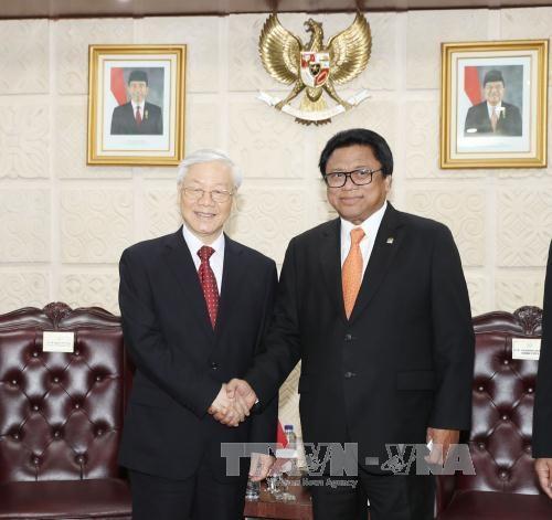 阮富仲总书记会见印尼地方代表理事会主席乌斯曼·沙普达 hinh anh 1