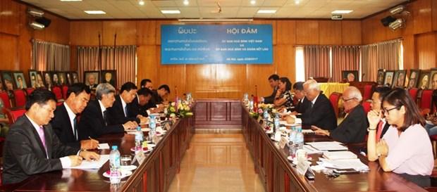 越南和平委员会和老挝和平与团结委员会强化合作 hinh anh 1