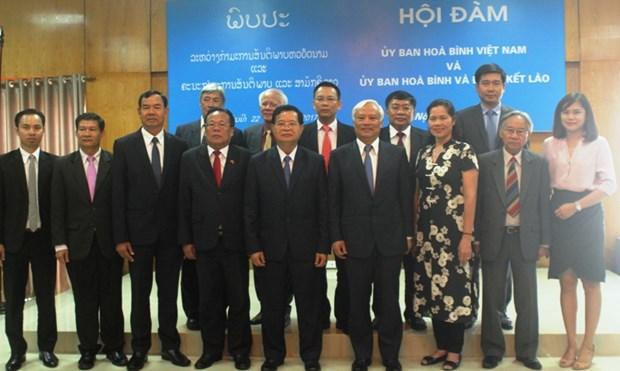 越南和平委员会和老挝和平与团结委员会强化合作 hinh anh 2
