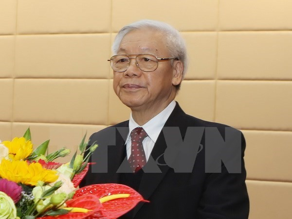 阮富仲总书记启程对印度尼西亚和缅甸进行访问 hinh anh 1