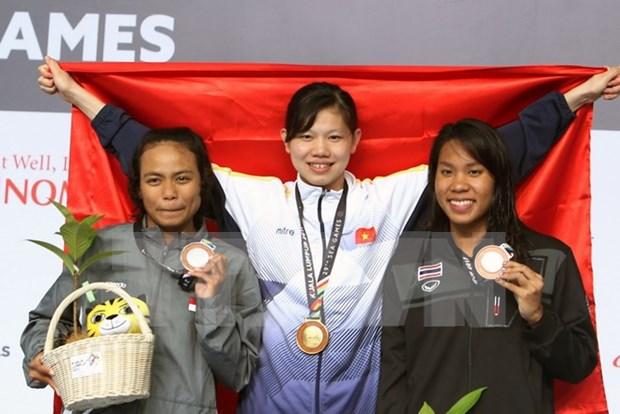 第29届东南亚运动会:各名运动员表现出色 越南总奖牌榜上名列第三位 hinh anh 1