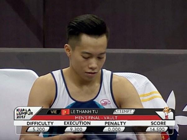 第29届东南亚运动会:越南体操运动员夺得3枚金牌 hinh anh 1