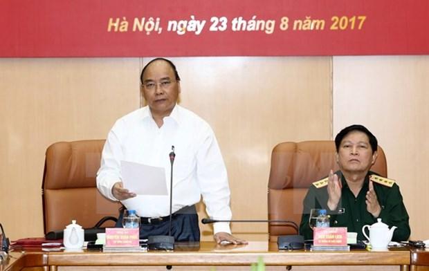 阮春福出席中央防守区指导委员会第一次会议 hinh anh 1