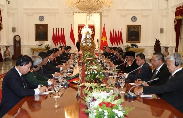 阮富仲总书记与印尼总统佐科·维多多举行会谈 hinh anh 2