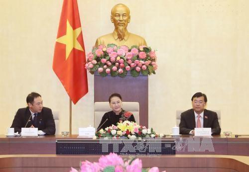 越南国会主席阮氏金银会见日本自由民主党青年局年轻议员代表团 hinh anh 2