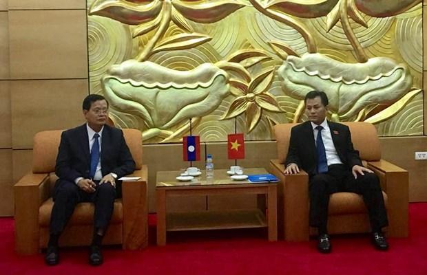 越南友好组织联合会领导会见老挝和平与团结委员会主席 hinh anh 1