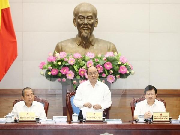 越南政府总理召开政府立法工作专题会议 hinh anh 1