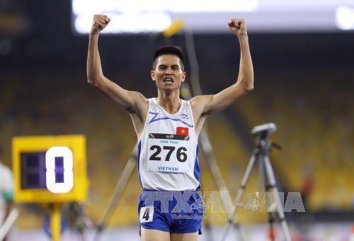 第29届东南亚运动会:23日越南以28金19银24铜位居第二 hinh anh 1