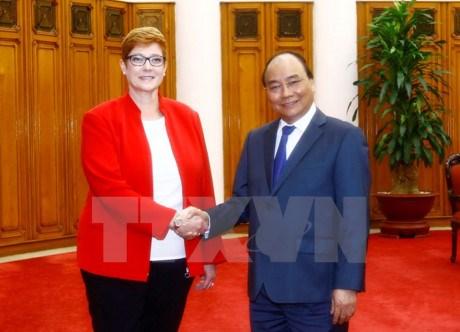 越南政府总理阮春福会见澳大利亚国防部长 hinh anh 1