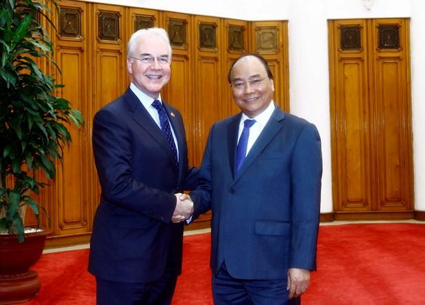 政府总理阮春福会见美国卫生与公众服务部部长 hinh anh 1