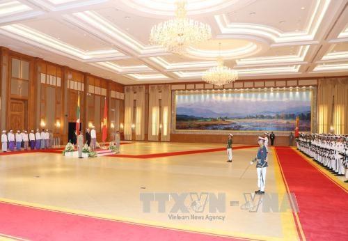 越缅领导人同意将两国关系提升为全面合作伙伴关系 hinh anh 2