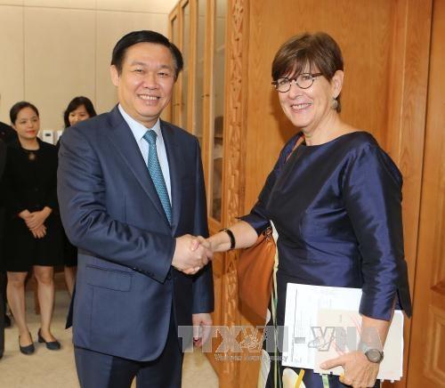 政府副总理王廷惠会见比利时、斯洛伐克和欧盟驻越南大使 hinh anh 1