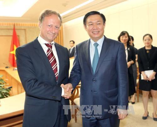 政府副总理王廷惠会见比利时、斯洛伐克和欧盟驻越南大使 hinh anh 3